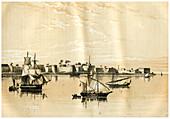 Zanzibar from the Sea, 1883