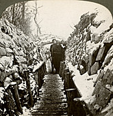 Winter in the Belgian trenches at Nieupoort, Belgium