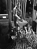 Beating hot garden forks, Ward & Payne Ltd, 1965