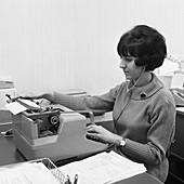 Typist, 1967