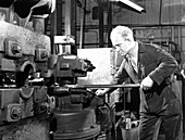 Forging heads at the Edgar Allen Steel Foundry, 1962