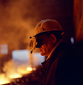 Steelworker, Newton Chambers, Chapeltown, 1971