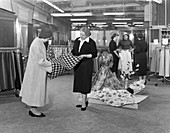 Ladies' clothing department, South Yorkshire, 1957