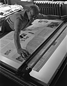 Newspaper printing, Mexborough, South Yorkshire, 1959