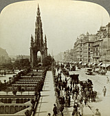 Princes Street and the Scott Monument, Edinburgh, Scotland