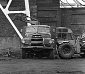 7 ton tipper being loaded at Rossington Colliery, 1963