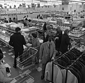The ASDA supermarket in Rotherham, South Yorkshire, 1969