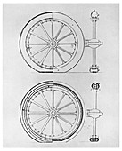 The first pneumatic tyre, 1845