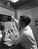 Production line control room, 1962