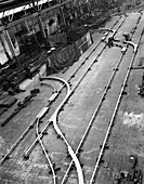 Installation of trackwork in an ICI Plant, 1963