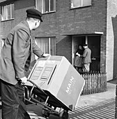 Home delivery of a cooker, 1963