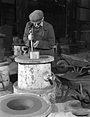 Moulding in the Wombwell Foundry, South Yorkshire, 1963