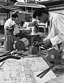 Pattern making for a steel mould, 1963