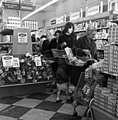 Opening of Brough's supermarket, 1963