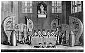 Drawing the State Lottery in Guildhall, City of London, 1763