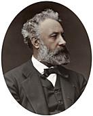 Jules Verne, French novelist, 1877