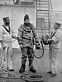 A diver from the battleship HMS 'Camperdown, 1896