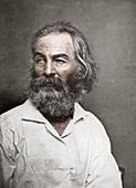 Walt Whitman, American poet, c1880s