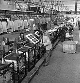 Immigrant workers on cooker production line, 1962