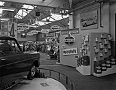 Exhibition at a Ford dealer, South Yorkshire, 1964