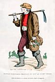 French peasant farm labourer, 16th century