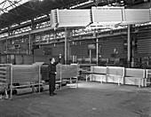 Lowering galvanised heat exchangers, 1964