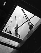 View from the hold of the Manchester Renown, 1964