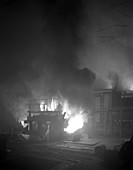 Arc furnace in steelworks, Sheffield, South Yorkshire, 1964