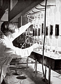 Laboratory research work, Germany, 1936