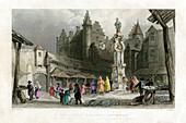 The Fish Market, Antwerp, Belgium, 19th century