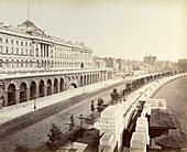 Victoria Embankment, showing Somerset House, London, 1887