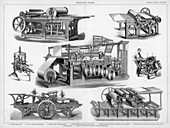 Printing presses, 19th or 20th century