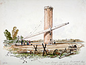 The great telescope erected on Wandsworth Common, London