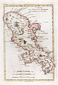 Map of the Caribbean island of Martinique, c1783