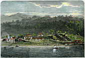 The town of Morant, Morant Bay, Jamaica, c1880