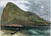 The Rock of Gibraltar, c1880