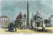 The Piazza del Popolo, Rome, Italy, c1880