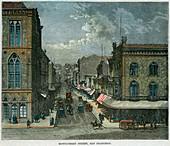 Montgomery Street, San Francisco, California, USA, c1880