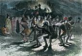 Native American scalp dance, c1875