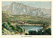 Piton d' Enchein, Reunion, c1880
