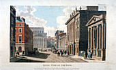 South view of the Bank of England, City of London, 1809