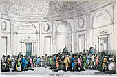 Interior view of the Bank of England, City of London, 1792