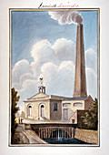 New London Waterworks, Vauxhall, Lambeth, London, 1825