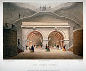 View of the entrance to the Thames Tunnel, London, 1854