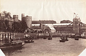 Part of Tower Bridge from the River Thames, London, 1894