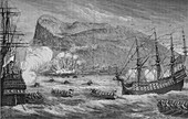 The Taking of Gibraltar, August 1704