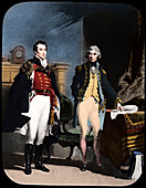 The Army and Navy, Wellington and Nelson, c1805