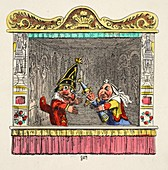 Punch and Judy with the Child, 1827
