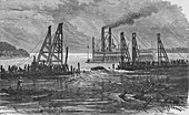 Removing Snags by Dredging, 1883