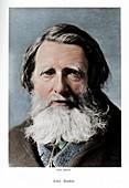 John Ruskin, English critic, poet and artist, c1880s